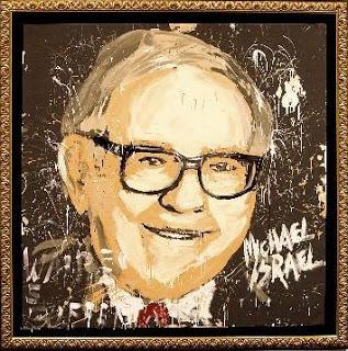 Michael Israel paints Warren Buffett